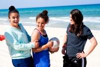 Trois joueuses de la sélection nationale sur la plage de Sousse