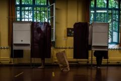 Un bureau de vote lors du deuxième tour des élections municipale le 28 juin 2020.