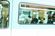 Dans le tramway T1, fin avril