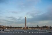 Place de la Concorde, premier jour de confinement