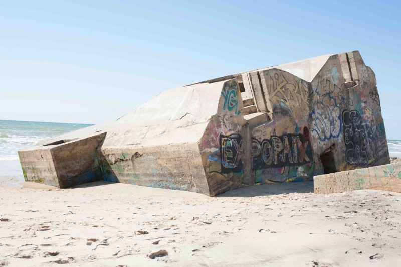 Les vestiges du mur de l'Atlantique témoignent de l'érosion sur le littoral girondin